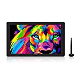 HUION KAMVAS 22 Plus 2020 Tableta gráfica con Pantalla, 140% sRGB, Vidrio Antirreflejo, Pantalla LCD QD Completamente Laminada, Lápiz PW517 con Inclinación, Compatible con Windows Mac Android