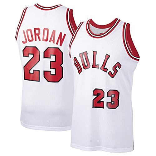 WSWZ Camisetas De Baloncesto De La NBA - Bulls 23# Michael Jordan Camiseta De La NBA para Hombre - Chalecos Cómodos Casuales Camisetas Deportivas Camisetas Sin Mangas,B,S(165~170CM/50~65KG)