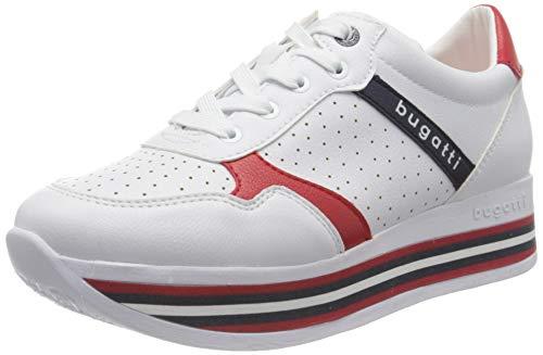 bugatti Damen 431880025050 Sneaker, Weiß (White/Red 2030), 40 EU