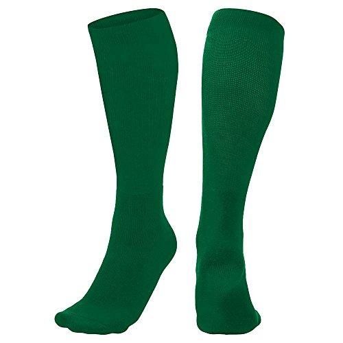 CHAMPRO Multi-Sport Socks, Single Pair, Adult Small, Forest Green