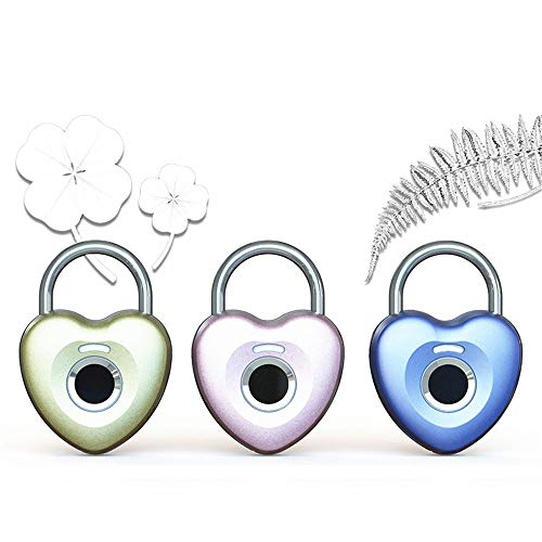 ROGF Smart Lock Household Password Padlock Students Dormitory Anti-theft Lock 1PCS Girls Lovely Cute Heart-shaped Combination Padlock Intelligent Keyless Electronic Lock Small Lock For family