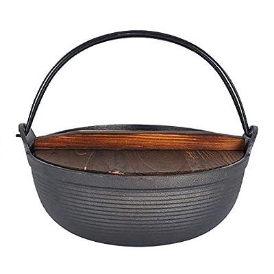 Coyan Cast Iron Pot Outdoor stew Pot Soup Camping Pot Pig Iron Roast Chicken Boiling Water Dutch Pot hot Pot Picnic Hanging Pot sukiyaki Delicious Pattern one-Pot
