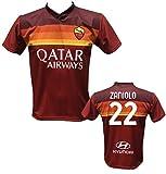 DND di D'Andolfo Ciro Maglia Calcio Home Nicolò Zaniolo 22 Roma Replica autorizzata 2020-2021 Taglie da Bambino e Adulto (XL (Adulto))