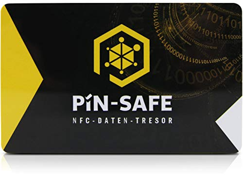 PIN-Safe Karte offline Daten-Tresor für Android & iOS inklusive 2. Karte
