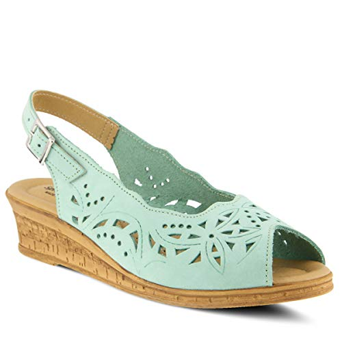 Spring Step Women's Orella Leather Slingback Sandal Mint Green