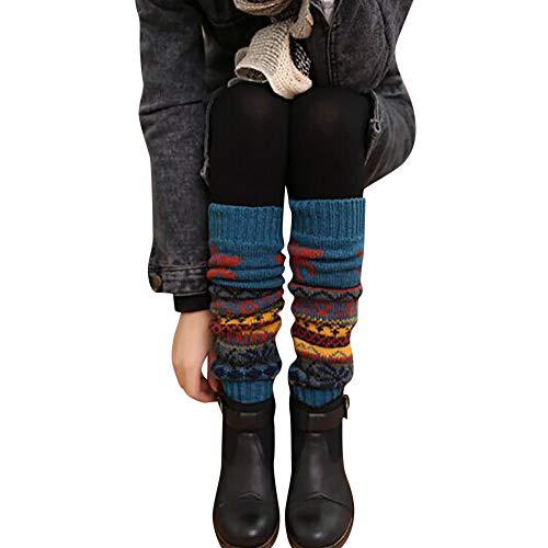 FRAUIT Damen Mädchen Beinwärmer Stulpen Legwarmers Grobstrickstulpen mit Alpakawolle Alpaka Flauschig Frauen Winter Warm Christmas Leg Zopfmuster gestrickt häkeln hohe lange Socken Leggings
