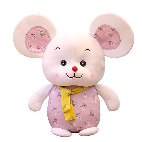 qwerqz Soft Toys-35cmlovely Scarf Mickey Mouse Y Minnie Mouse Peluches De Peluche Rellenos Super Gifts Juguete Clásico para Niñas