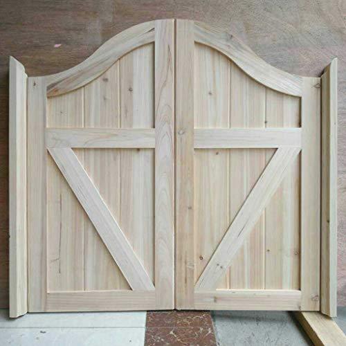 ZY Wall-Mounted Table Unvollendete schwingende Cafétüren, hölzerne Saloon-Tür, Teilungs-Dekor für Küchenstange - schließen Sie alle Scharniere mit EIN - andere vorhandene Größen