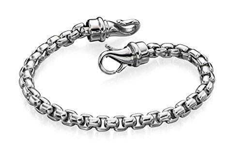 Fred Bennett Stainless Steel for Men's Stainless Steel Large Belcher Link Bracelet of 21.5cm