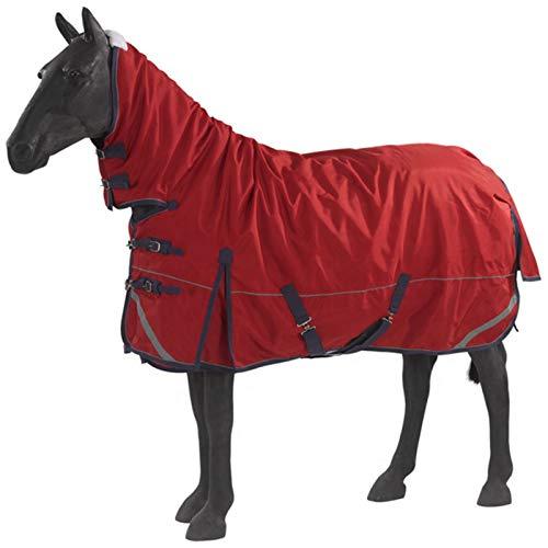 Pet Supplies Winterpferdedecke, Dicke hochgeschlossene Weichenpferdedecke, 600D wasserdichtes Oxford-Tuch 300G gepolsterte Baumwolle Outdoor-Wärmepferdedecke (rot)