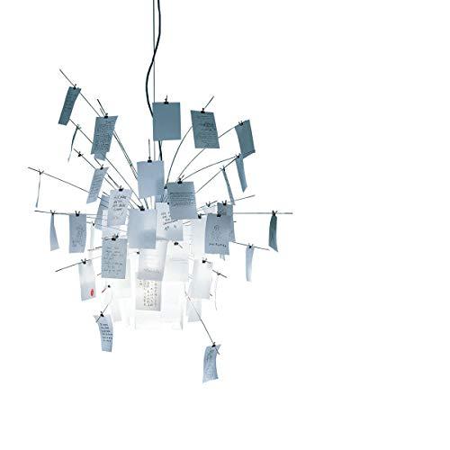 Ingo Maurer - Zettel'z no. 6 lista ' lámpara colgante z 6 papel blanco 230 v ø 60 cm