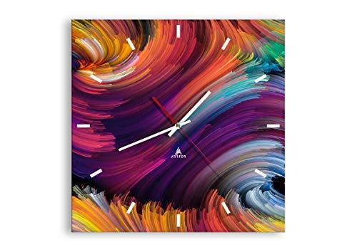 orologio da parete quadrato moderni Orologio da parete - Quadrato - astrazione moderna - 40x40cm - Orologio da parete - Orologio in Vetro - Orologio Da Muro - Orologio Da Parete Moderno - Decorazione Parete - Home Decor - C3AC40x40-3796