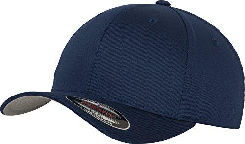 Flexfit Unisex Wooly Combed Unisex Kappe ohne Verschluss für Herren, Damen und Kinder Wooly Combed Baseball Cap, navy, S/M (Herstellergröße: S/M)