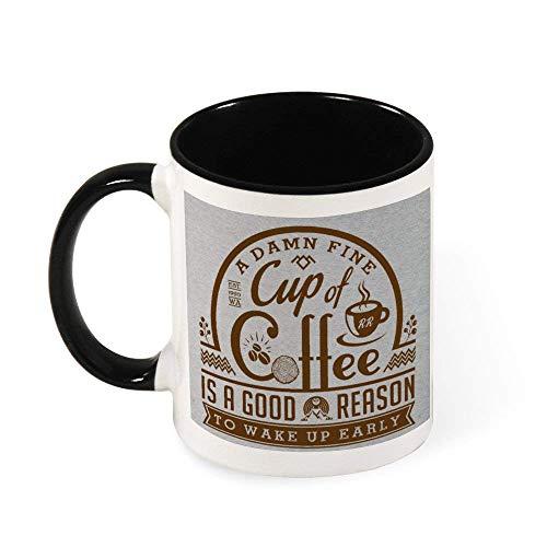 DJNGN Twin Peaks Damn Fine Cup of Coffee Cafe Sign Ceramic Coffee Mug Tea Mug,Gift for Women, Girls, Wife, Mom, Grandma,11 oz