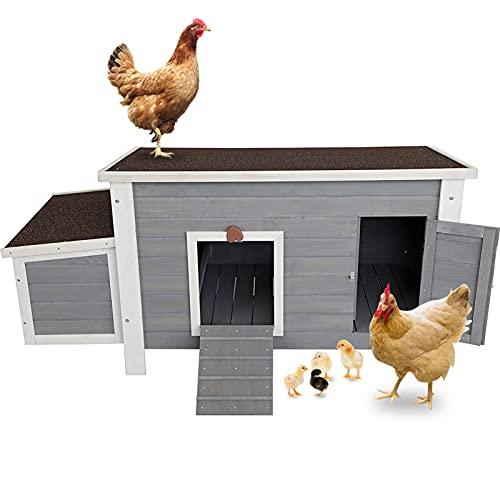 Petsfit Weatherproof Outdoor Chicken Coop with Nesting Box,...