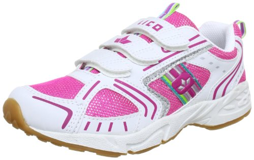 Lico Silverstar V Mädchen Multisport Indoor Schuhe, Weiß/ Pink/ Silber, 33 EU