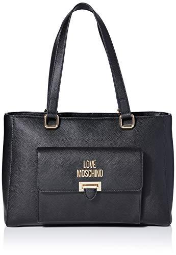 Love Moschino Jc4242pp0a, Borsa Tote Donna, Nero (Black Saffiano), 14x25x35 cm (W x H x L)