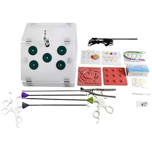 HAITOY Caja De Entrenamiento De Cirugía Laparoscópica, con 6 Módulos De Entrenamiento, 4 Instrumentos Quirúrgicos para Entrenamiento De Endoscopio Entrenador Instrumento Quirúrgico