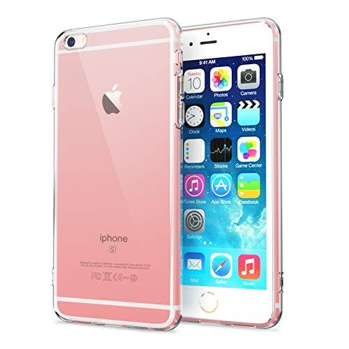 NEW'C Cover Compatibile con iPhone 6 e iPhone 6s, Custodia Gel Trasparente Morbida Silicone Sottile TPU [Ultra Leggera e Chiaro]