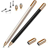 Stylus for iPad Pencil, MEKO Universal Disc Stylus Pens for All Touch Screen Devices Including Smart Phones, Computers, Tablets (2-Packs Stylus Pen with Acessories)