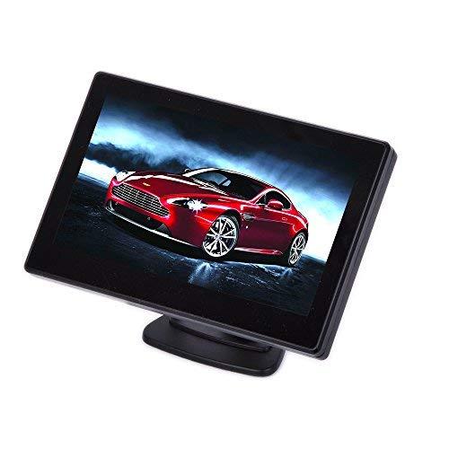 BW® – Moniteur LED avec capteur, 4,3 Pouces, pour Voiture, caméra recul, TFT, LCD