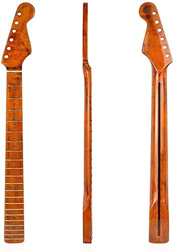 AoFeiKeDM Guitarra cuello guitarra reemplazo 21 producto guitarra eléctrica cuello mango arce para TL Tele con la línea media Dorsal
