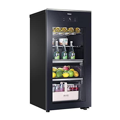 Barra de Hielo para el hogar Grande, refrigerador de pie de 135L, Bebida Cerveza Vino Vino Gabinete, Control de Temperatura con luz (Color : Black, Size : 52 * 57.8 * 107.5cm)