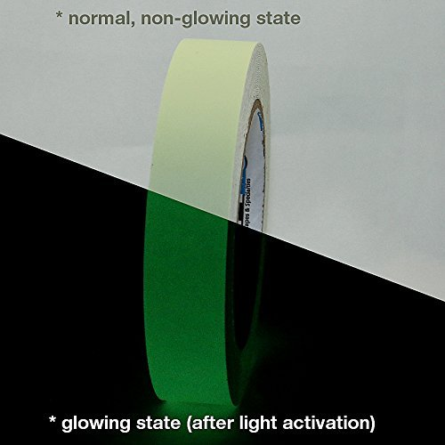 Pro Tapes Pro-Glow Glow in the Dark Tape: 1 in. x 30 ft. (Luminescent Lime Green) by Pro Tapes