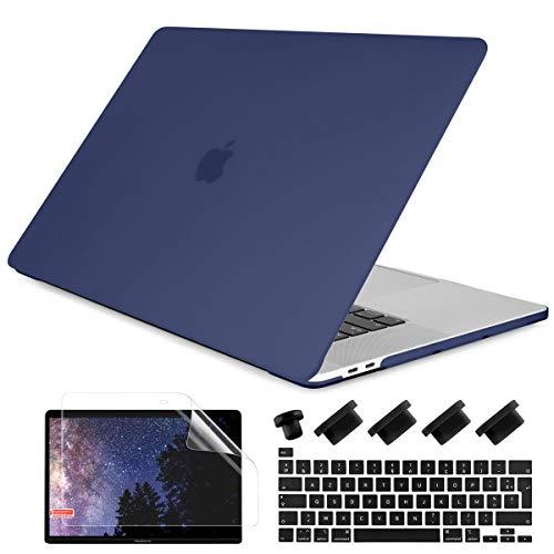 Batianda - Carcasa rígida para MacBook Air de 13 pulgadas 2020, funda rígida Case Cover y cubierta de teclado y protector de pantalla para nuevo MacBook Air 13.3 con Touch ID & Retina (modelo A2337 A2179), color verde mate