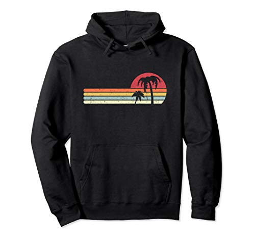 Palm Tree, Retro Tropical Pullover Hoodie