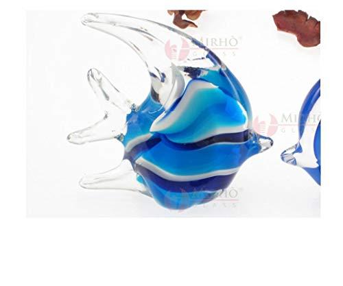 ARTE DEGLI ARGENTI N.1 BOMBONIERA Pesce Luna Tropicale Blù e Celeste SFUMATO Altezza Cm.11 in Vetro di Murano Made in Italy per Nozze Matrimonio Battesimo CRESIMA 38024