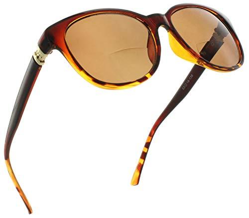 Fiore Bifocal Reading Sunglasses for Women Cat Eye Sunglass Readers Bi Focal Reading Glasses with Designer Style   100% UV Protection