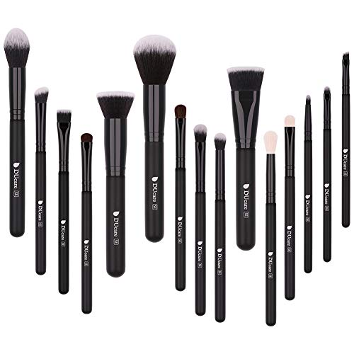 DUcare Make Up Pinsel 15 Stück Professionelle Makeup Pinselsets Premium Synthetische Schminkpinsel...