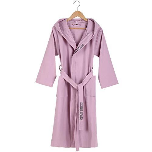 HXGpajamas Albornoz Mujeres Hombres Unisex Bata con Capucha Microfibra Suave Suave Coy Fleece, Chal Toalla Envoltura De Baño Cómodo (Color : B, Size : Large)
