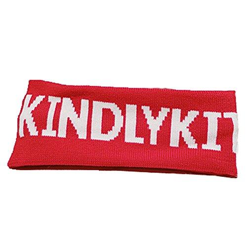 Knitting Bandeaux large bandeau pour les sports ou de la mode, Rouge KINDLY