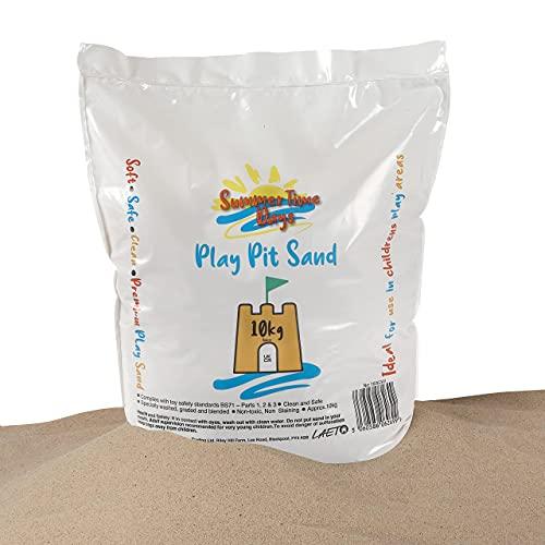Laeto Summertime Days Kinder-Spielsand, 10 kg Beutel, für Kinder, ungiftig, weich, ideal zum Spielen in Sandkästen