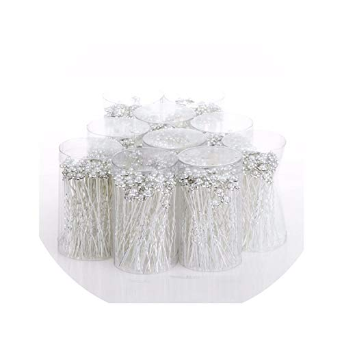 Beenle Icey-headbandsHorquillas para el pelo de boda con perlas de imitación, 40 unidades, size27, Blanco,