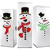 2 Hojas Juego de Pegatinas de Refrigerador de Muñeco de Nieve de Navidad Pegatinas de Nevera Adorables Adornos para Nevera Pared Puerta Decoración de Fiesta Hogar