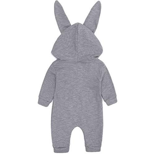 【うさ耳キュート】monoii赤ちゃん着ぐるみうさぎロンパースあったかベビー服ハロウィン衣装ウサギカバーオール仮装コスプレd469