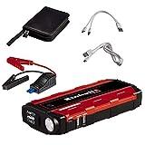 Einhell 1091511 Arrancador Multifunción para vehículos (Power Bank para dispositivos móviles), Negro, Rojo, 12