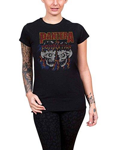 PANTERA T Shirt Domination Nue offiziell Damen Skinny Fit Scoop Neck