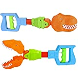 ArtCreativity Dino Robot Hand Grabber, Set of 2, 14 Inch Robotic Arm Reacher Grab Claw, Cool Grabbing Stick for Kids, Fun Dinosaur Toys for Boys and Girls, Best Holiday and Birthday Gift Idea