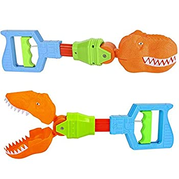 ArtCreativity Dino Robot Hand Grabber Set of 2 14 Inch Robotic Arm Reacher Grab Claw Cool Grabbing Stick for Kids Fun Dinosaur Toys for Boys and Girls Great Holiday and Birthday Gift Idea