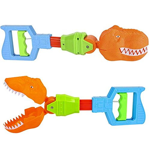 ArtCreativity Dino Robot Hand Grabber, Set of 2, 14 Inch Robotic Arm Reacher Grab Claw, Cool Grabbing Stick for Kids, Fun Dinosaur Toys for Boys and Girls, Great Holiday and Birthday Gift Idea