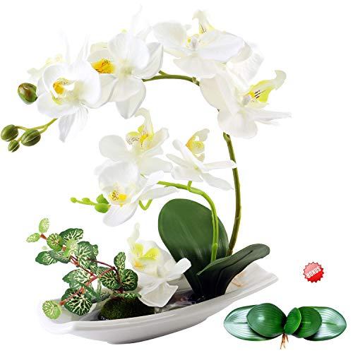 Centros de mesa para comedor – Orquídeas artificiales artificiales arreglos para decoración – orquídeas falsas de seda flores centro de mesa para el hogar,cocina,oficina