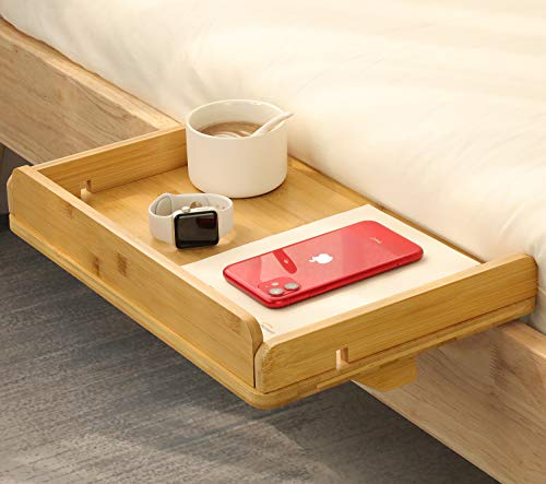 Black TuckIn Nightstand Bedside Caddy-Sofa Caddy Smartphone Holder Charger Cable Compatible