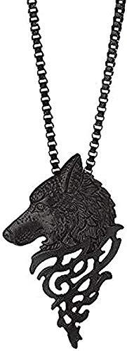 Yiffshunl Collar Fascinante Forma de Cabeza de Lobo Collar de aleación Gargantilla Adornos Colgantes Joyería de Moda Collar de Regalo Baratija Torque Gargantilla Joyas Niñas Niñas J