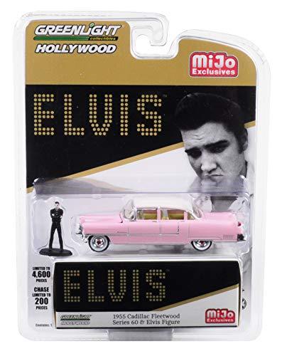 Greenlight - Elvis 1955 Cadillac Fleetwood Series 60 + Elvis Figure 1:64 Model Auto