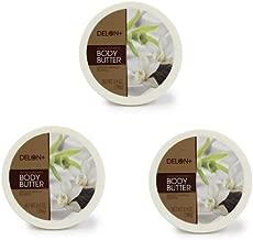 DELON Intense Moisturizing Smooth Vanilla Body Butter 6.9 Oz (3-pack)