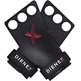 DIENEX Exess 3H Calleras para Crossfit Grips 3 Agujeros, Agarre Calistenia, Halterofilia, Fitness, Gimnasia, Kettlebell, Dominadas, Pullups, Protección de Manos (Talla M)